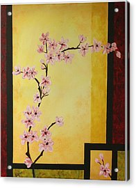 Cherry Blossoms Acrylic Print by Dawn Grice