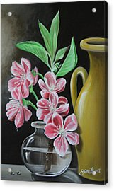 Cherry Blossoms Acrylic Print by Gani Banacia