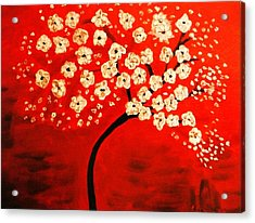 Cherry Blossoms Acrylic Print by Shelia Gallaher Chancey