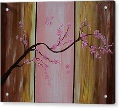 Cherry Blossoms Acrylic Print by Monica Art-Shack