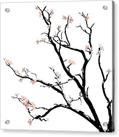 Cherry Blossoms Tree Acrylic Print by Gina Dsgn