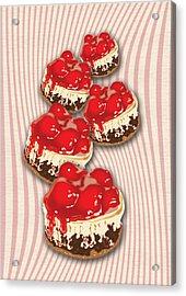 Cherry Cheesecake Acrylic Print