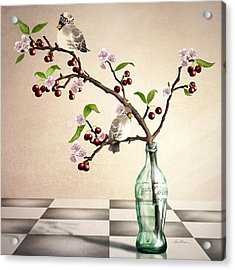 Cherry Coke Acrylic Print by April Moen