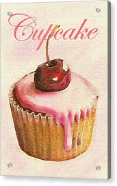 Cherry Cupcake Acrylic Print by Jane Schnetlage