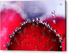 Cherry Fizz Hearts With Love Acrylic Print