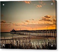 Cherry Grove Pier Myrtle Beach Sc Acrylic Print
