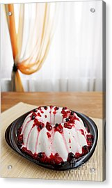 Cherry Jelly Cake Acrylic Print by Ciprian Kis
