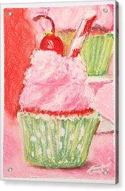 Cherry Limeade Cupcake Acrylic Print