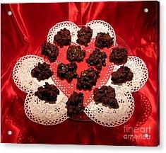 Cherry Pecan Chocolates Acrylic Print by Judyann Matthews