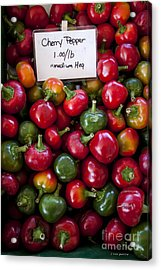 Cherry Peppers Acrylic Print by Janice Rae Pariza