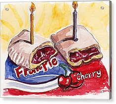 Cherry Pie Indulgence Acrylic Print by Julie Maas