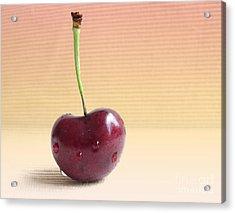 Cherry Portrait Two Acrylic Print by Arlene Carmel