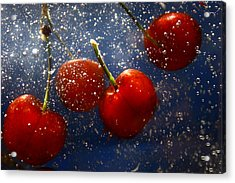 Acrylic Print featuring the photograph Cherry Splash by Paula Brown
