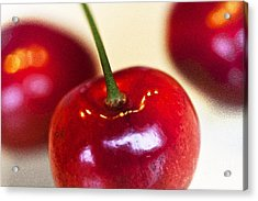 Cherry Still Life Acrylic Print by Heiko Koehrer-Wagner