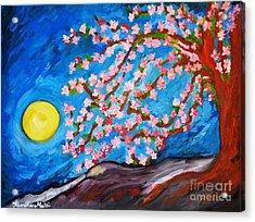 Cherry Tree In Blossom  Acrylic Print by Ramona Matei
