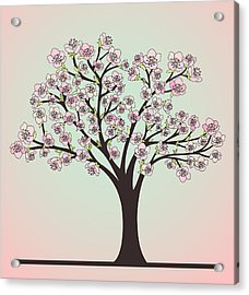 Cherry Tree With Blossoms Acrylic Print by Olivera Antic