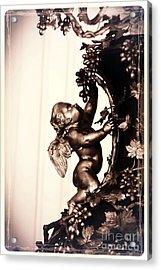 Cherub In Sepia Acrylic Print by Carol Groenen