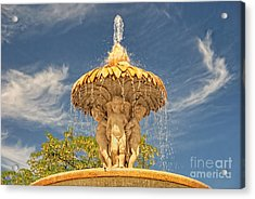 Cherubs In The Retiro Acrylic Print