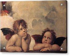 Cherubs On The Sistine Chapel Acrylic Print by Raphael