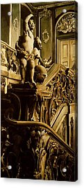 Cherubs On The Stairs Acrylic Print by Alfred Ng