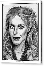 Cheryl Ladd In 1977 Acrylic Print by J McCombie