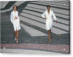 Cheryl Tiegs In A Silk Suit And Beverly Johnson Acrylic Print
