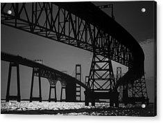 Chesapeake Bay Bridge At Annapolis Acrylic Print by Skip Willits