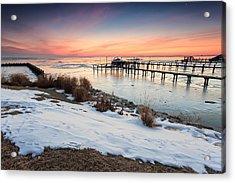 Acrylic Print featuring the photograph Chesapeake Bay Freeze by Jennifer Casey