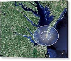 Chesapeake Bay Impact Site Acrylic Print by Nasa/science Photo Library