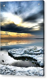 Chesapeake Bay Winter Acrylic Print by Olivier Le Queinec