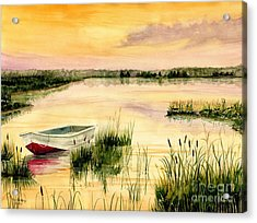 Chesapeake Marsh Acrylic Print by Melly Terpening