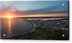 Chesil Beach Sunset  Acrylic Print by Ollie Taylor