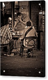 Acrylic Print featuring the photograph Chess Game by Erin Kohlenberg