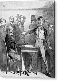 Chess Match, 1843 Acrylic Print by Granger