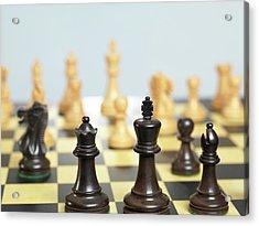 Chess Match Acrylic Print
