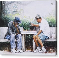 Chess Players Acrylic Print