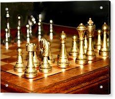 Chess Set  Acrylic Print by Diane Merkle