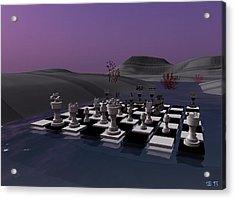 Acrylic Print featuring the digital art Chess by Susanne Baumann