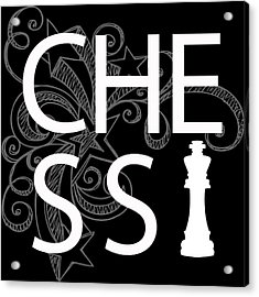 Chess The Game Of Kings Acrylic Print by Daniel Hagerman