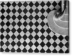 Chessboard Staircase Acrylic Print