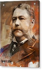 Chester A. Arthur Acrylic Print by Corporate Art Task Force