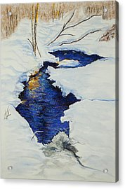 Chester Creek Acrylic Print by Jocelyn Paine
