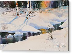 Chester Creek Shadows Acrylic Print by Teresa Ascone