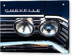 Chevelle Headlight Acrylic Print by Jerry Fornarotto