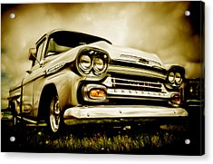 Chevrolet Apache Pickup Acrylic Print by motography aka Phil Clark