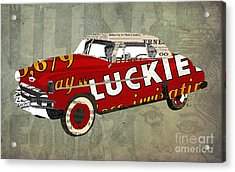 Chevrolet Bel Air 1950 And Luckies Ad Acrylic Print by Pablo Franchi