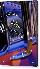 Chevrolet Belair Dash Board Emblem -754c Acrylic Print by Jill Reger