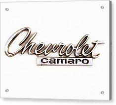 Chevrolet Camaro Emblem Acrylic Print by Jerry Fornarotto