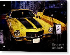 Acrylic Print featuring the photograph Chevrolet Camaro by Mohamed Elkhamisy