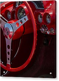 Chevrolet Corvette Red 1962 Acrylic Print by Susan Candelario